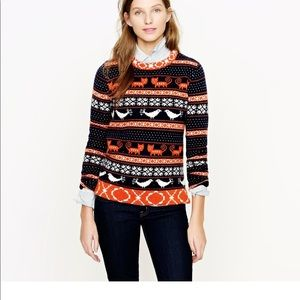 J. Crew Farmyard Fair Isle Wool Blend Sweater